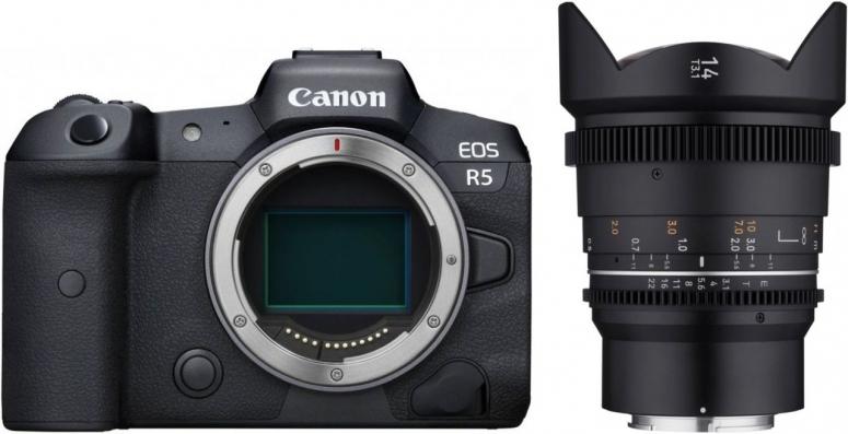 Canon EOS R5 + Samyang MF 14mm T3,1 VDSLR MK2 Canon RF