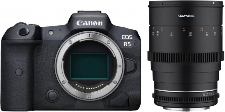 Canon EOS R5 + Samyang MF 35mm T1,5 VDSLR MK2 Canon RF