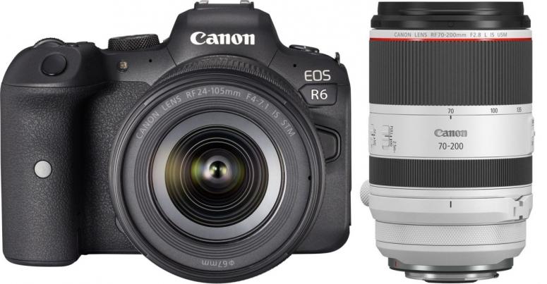 Canon EOS R6 + RF 24-105mm f4-7.1 IS STM + RF 70-200mm f2,8L IS USM