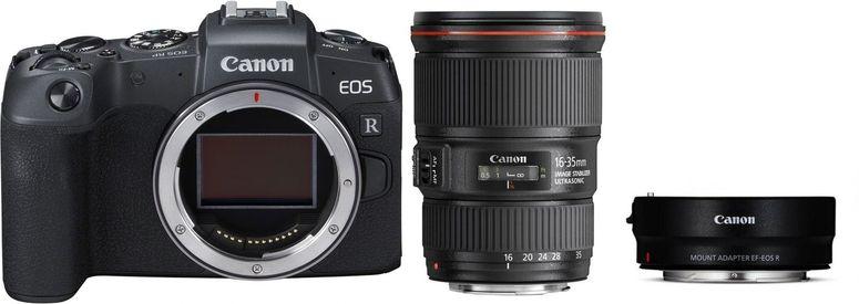 Canon EOS RP + Adapter EF-EOS R + EF 16-35mm f4 L IS USM