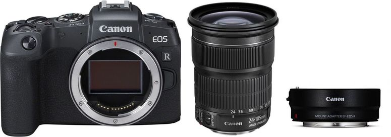 Canon EOS RP + Adapter EF-EOS R + EF 24-105mm f3,5-5,6 IS STM