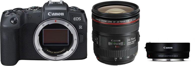 Canon EOS RP + Adapter EF-EOS R + EF 24-70 mm f4 L IS USM