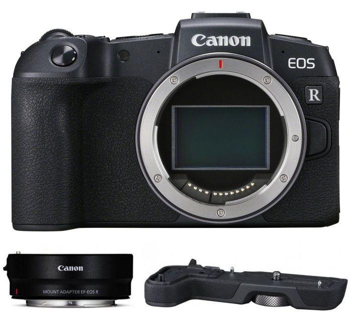 Canon EOS RP Gehäuse + Adapter EF-EOS R + Handgriff EG-1