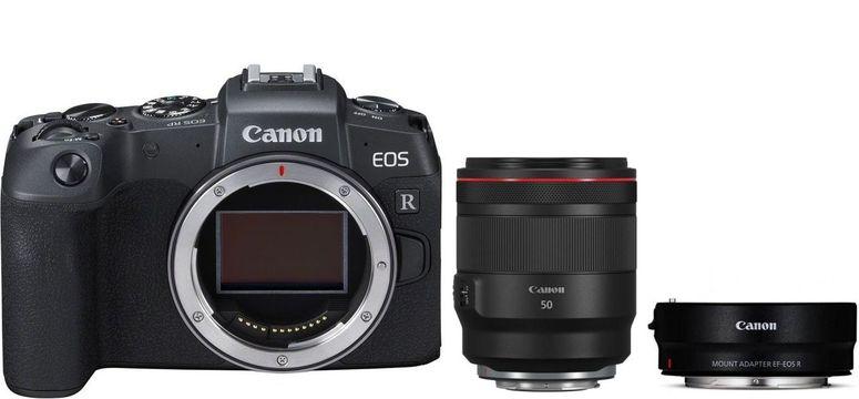 Canon EOS RP Gehäuse + Adapter EF-EOS R + RF 50mm f1,2 L USM