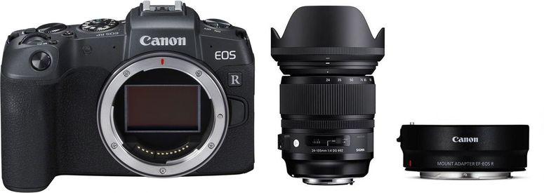 Canon EOS RP Gehäuse + Adapter EF-EOS R + Sigma 24-105mm F4 DG OS HSM