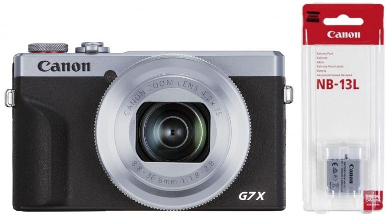 Canon PowerShot G7X III silber Battery Kit