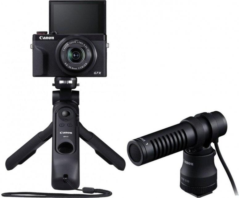 Canon PowerShot G7X Mark III schwarz + HG-100TBR + DM-E100