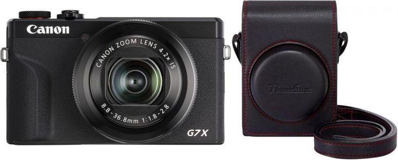 Canon PowerShot G7X Mark III schwarz+Canon DCC-1880 Tasche