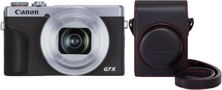 Canon PowerShot G7X Mark III silber+Canon DCC-1880 Tasche