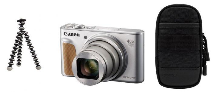 Canon PowerShot SX740HS silber Travel Kit