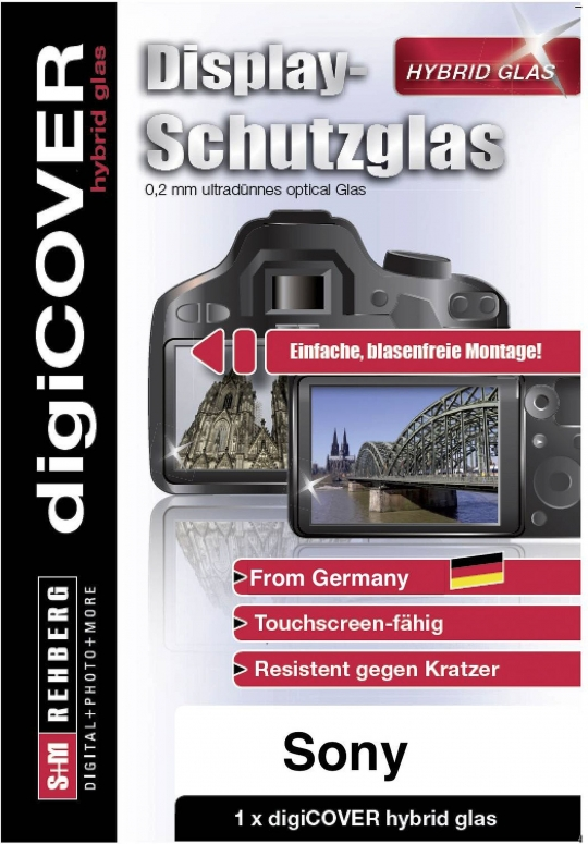 digiCover hybrid Glas Sony Alpha 7 II/7 III/7 R II/ 9 /7 RIII