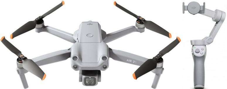 DJI Air 2S Fly More Combo + DJI OM 4 Smartphone-Gimbal