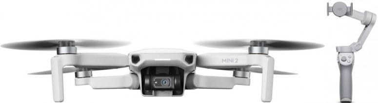 DJI Mini 2 Fly More Combo + DJI OM 4 Smartphone-Gimbal