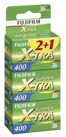 Fujifilm Superia X-TRA 400 135/36 3er Pack