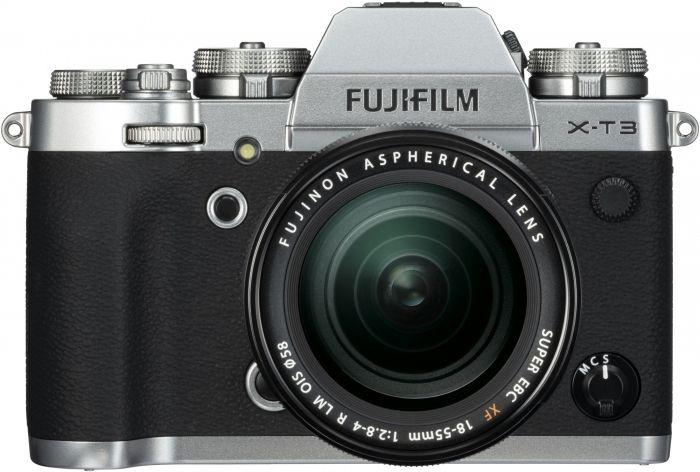 Fujifilm X-T3 Gehäuse silber + XF18-55mm f2,8-4 R LM OIS schwarz