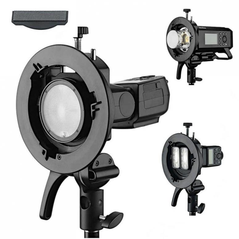 Godox S2 - Blitzgerätehalter mit Bowens Bajonett