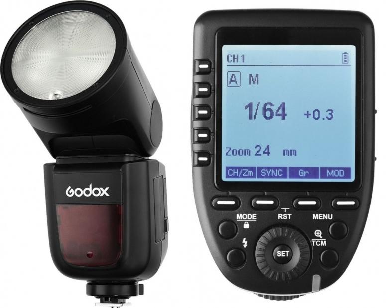 Godox V1N Rundblitzgerät für Nikon inkl. Akku und Xpro Transmitter