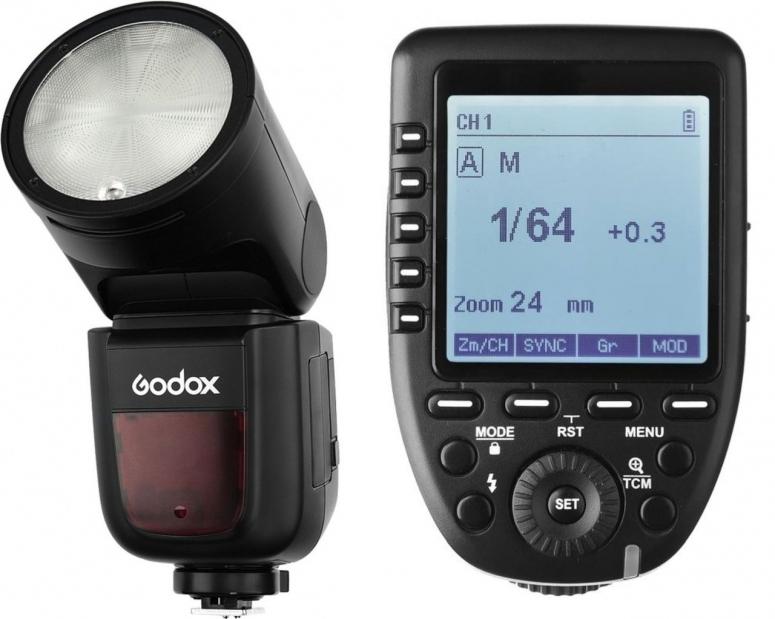 Godox V1O Rundblitz Olympus/Panasonic inkl. Akku und Xpro Transmitter