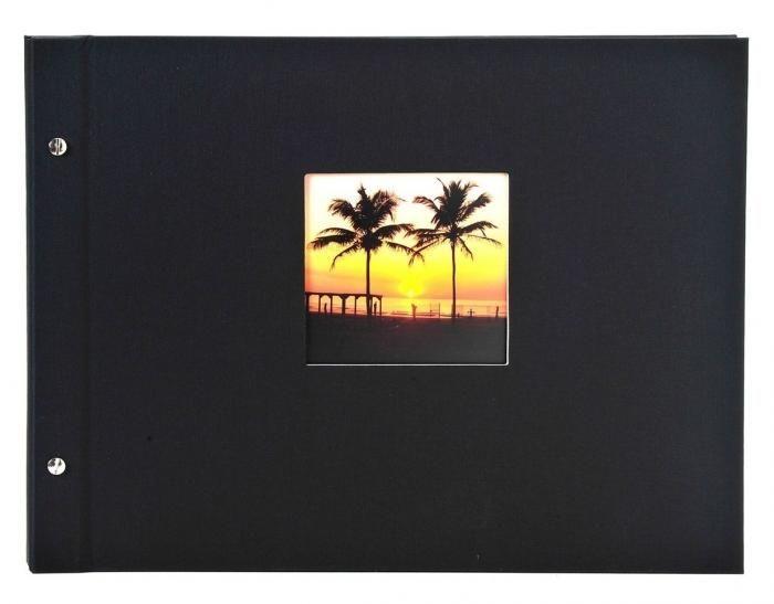 Goldbuch Bella Vista Schrauba. 26897 schwarz 30x25cm weiße Seiten
