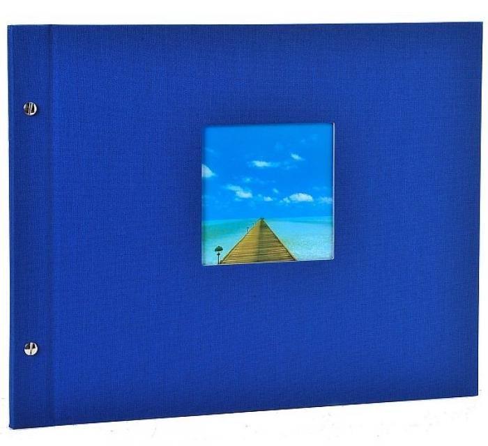 Goldbuch Bella Vista Schraubalbum Blau 28 975 schwarze Seiten 39x31cm