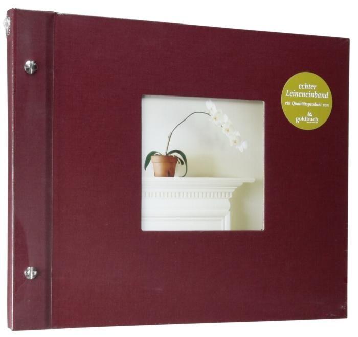 Goldbuch Bella Vista Schraubalbum Bordeaux 26972 schwarze Seiten 30x25
