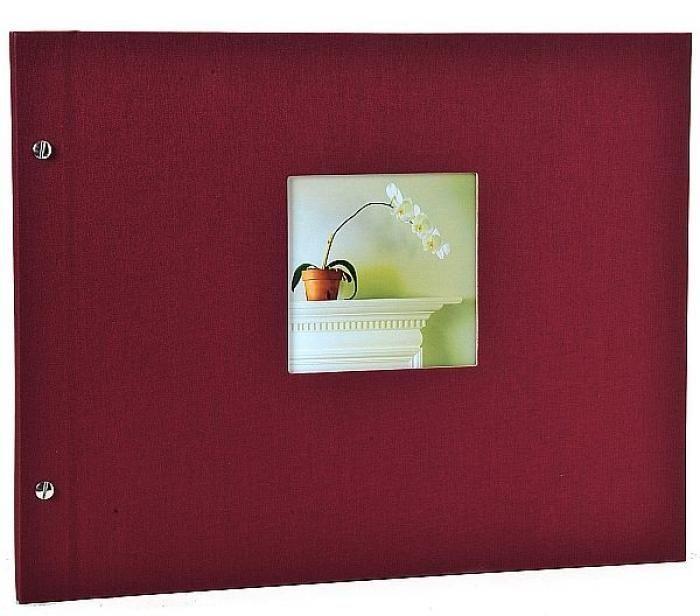 Goldbuch Bella Vista Schraubalbum bordeaux 28972 schw. Seiten 39x31 cm