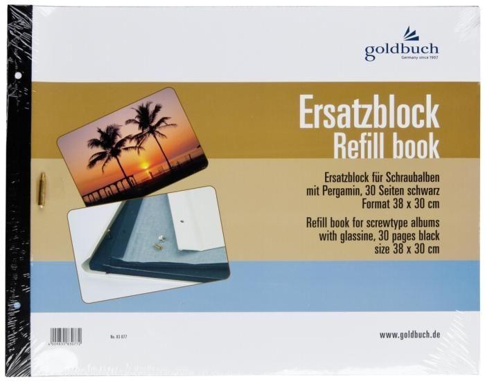 Goldbuch Ersatzblock 83 077 schwarz 38x30 cm für Schraubalben 31x39cm