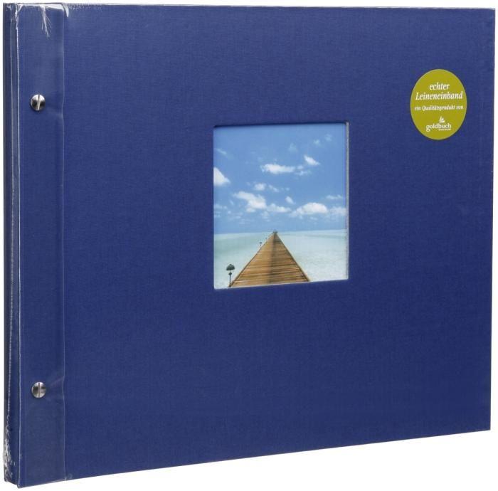 Goldbuch Schraubalbum Bella Vista Blau 28 895 weiße Seiten 39x31cm