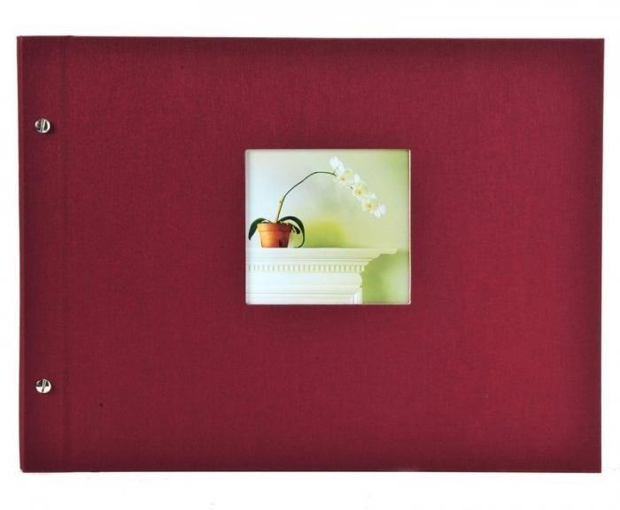 Goldbuch Schraubalbum Bella Vista bordeaux 26892 weiße Seiten 30x25cm