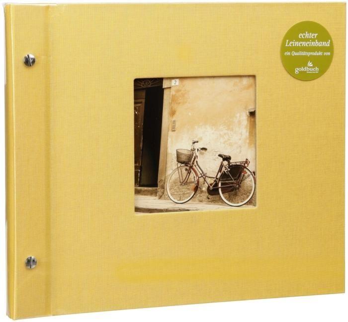 Goldbuch Schraubalbum Bella Vista Gelb 26 971 schwarze Seiten