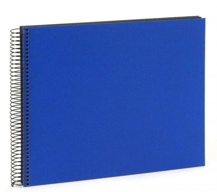 Goldbuch Spiralalbum Bella Vista dunkelblau 25996 schwarze S. 34x30cm