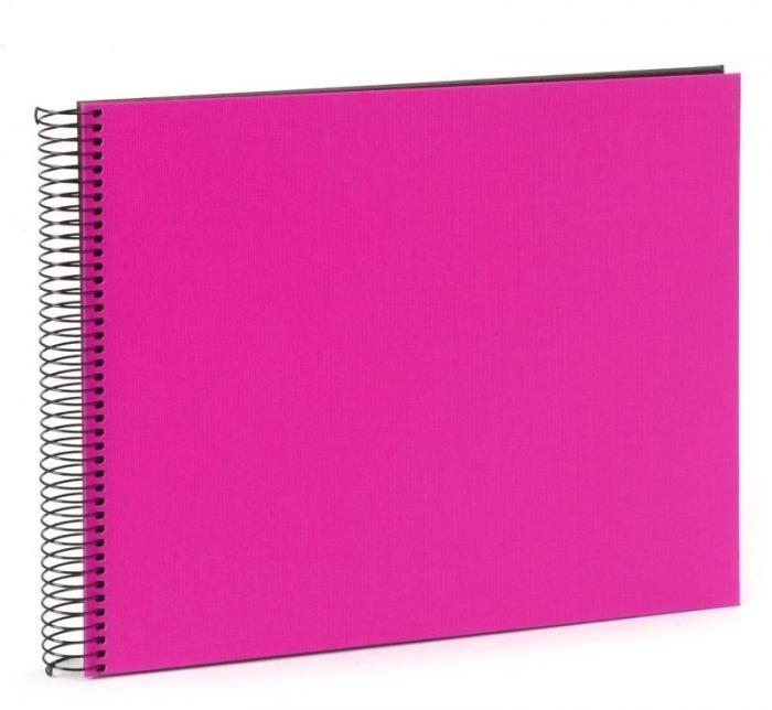 Goldbuch Spiralalbum Leinen Pink 25 964 schwarze Seiten 34x30cm