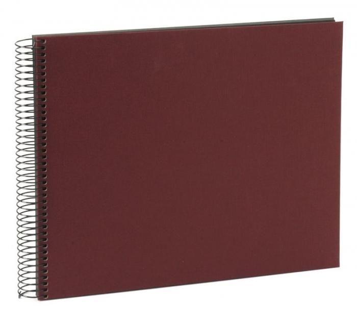 Goldbuch Spiralalbum Weinrot 25 994 schwarze Seiten 34x30cm