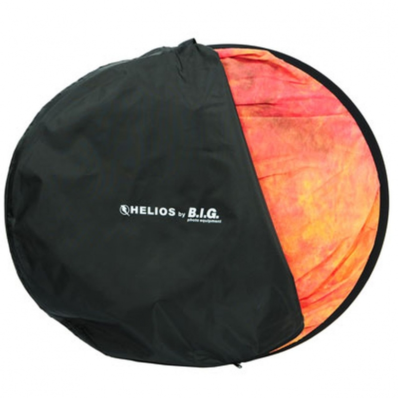 HELIOS Falthintergrund 150x200cm, rot gewolkt