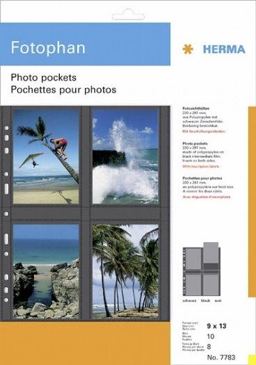 Herma Fotophan-Sichthüllen 9x13cm hoch weiß 7583