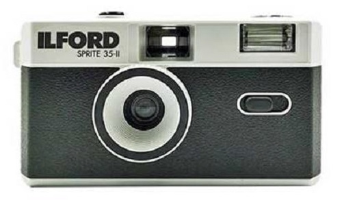 Ilford Sprite 35-II Kamera schwarz/silber