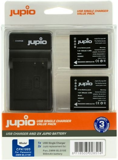 Jupio Kit DMW-BLG10E + Single Charger