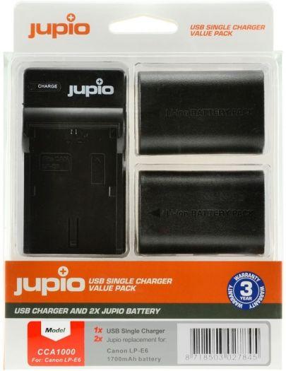 Jupio Kit LP-E6 + Single Charger
