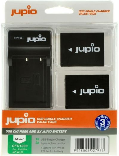Jupio Kit NP-W126 + Single Charger