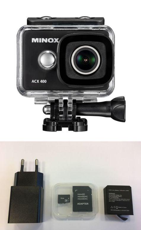 Minox ACX 400 WiFi Action Cam inkl. Zubehörkit