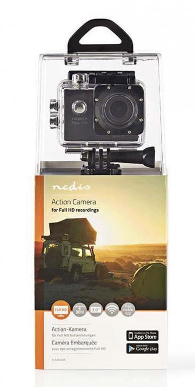 Nedis Full HD Action Cam 1080p Wlan schwarz