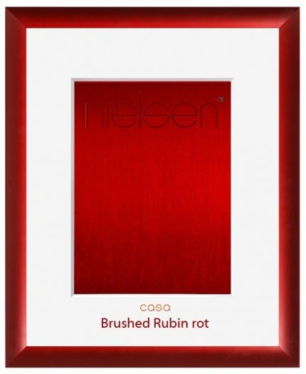 Nielsen Alurahmen Casa Brushed 40x50 cm rubin