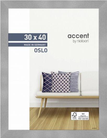 Nielsen Holzrahmen 299278 Oslo 30x40cm silber