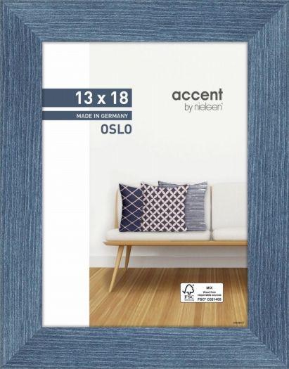 Nielsen Holzrahmen 299292 Oslo 13x18cm blau