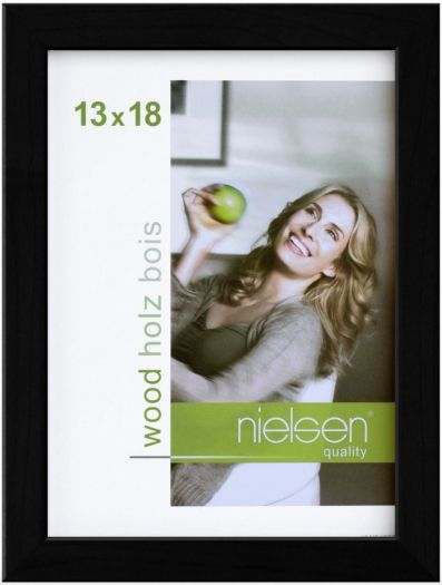 Nielsen Holzrahmen 6532001 Quadrum 13x18cm schwarz