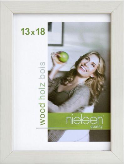 Nielsen Holzrahmen 6532002 Quadrum 13x18cm weiss