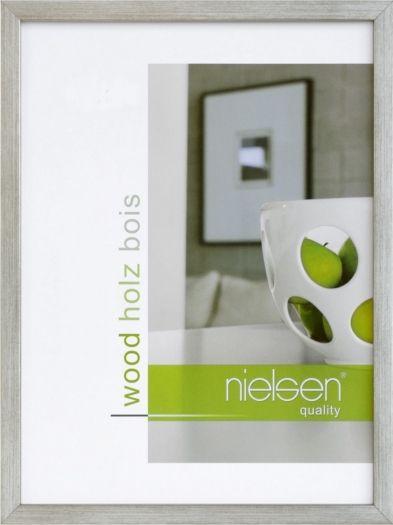 Nielsen Holzrahmen 6532007 Quadrum 13x18cm silber