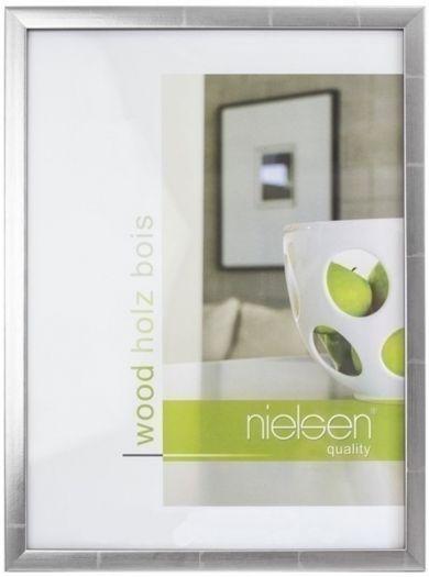 Nielsen Holzrahmen 6532008 Quadrum 13x18cm silber-anthrazit