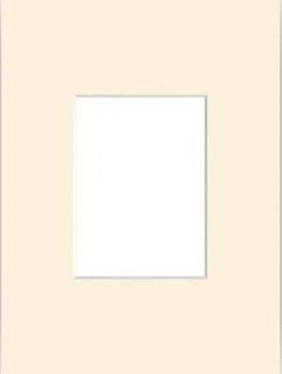 Nielsen Passepartout 30x40 bisquit mit Ausschnitt 20x30