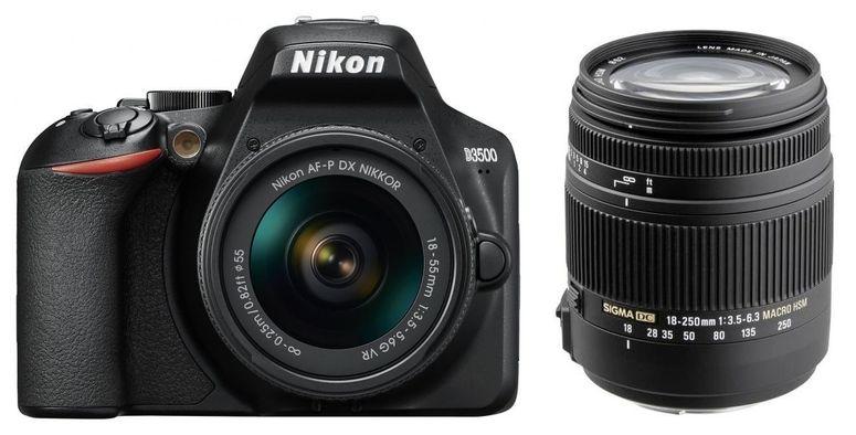 Nikon D3500 + AF-P DX 18-55mm + Sigma 18-250 mm